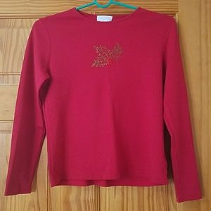 Charter Club Vintage Red Long Sleeve Top